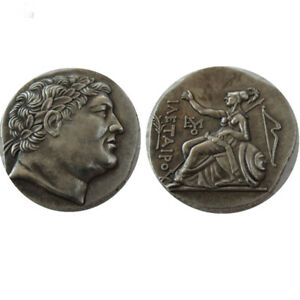 SILVER PLATED ANCIENT GREEK COIN  COIN CRAFT GIFT COMMEMORATIVE NO.17