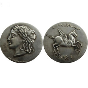 SILVER PLATED ANCIENT GREEK COIN  COIN COMMEMORATIVE CRAFT GIFT NO.26