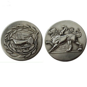 SILVER PLATED ANCIENT GREEK COIN  COIN COMMEMORATIVE CRAFT GIFT NO.29