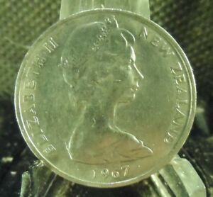 CIRCULATED 1987 10 CENTS NEW ZEALAND COIN    13018 1 ..FREE DOMESTIC SHIPPING