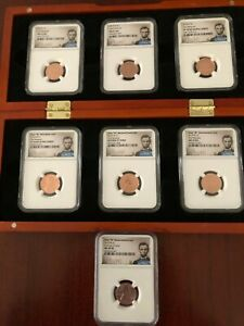 Click now to see the BUY IT NOW Price! 2019 W   PDS LINCOLN CENT COMPLETE 6 COIN SET   NGC MATCHED PF&MS 70 RD   BONUS