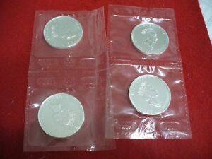 Click now to see the BUY IT NOW Price! LOT OF 4 SILVER MAPLE LEAF  CANADA   COINS    1990   2002  .999   SILVER