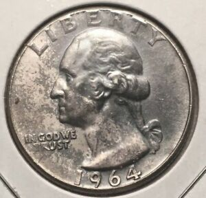 Click now to see the BUY IT NOW Price! 1964 WASHINGTON SILVER QUARTER   BLUE TONING