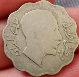 1931 IRAQ 10 FILS KM 98 AH 1349 TEN MIDDLE EAST COLLECTABLE  COIN  1907