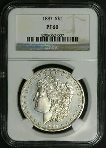 Click now to see the BUY IT NOW Price! 1887 PROOF MORGAN SILVER DOLLAR NGC PR 60