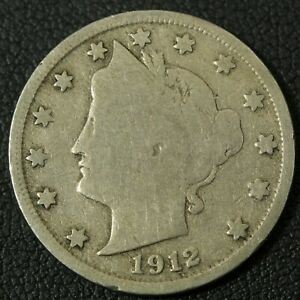 Click now to see the BUY IT NOW Price! 1912 S LIBERTY V NICKEL   REVERSE SCRATCH