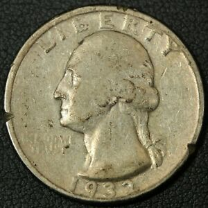 Click now to see the BUY IT NOW Price! 1932 D GEORGE WASHINGTON SILVER QUARTER   EDGE CUTS