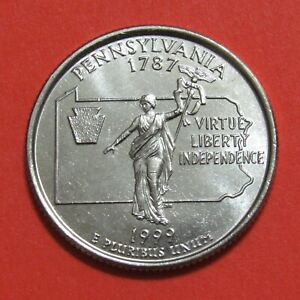 1999 D 25C PENNSYLVANIA STATE QUARTER   UNCIRCULATED