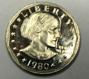 1980 S SUSAN B ANTHONY ONE DOLLAR COIN