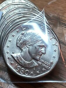 1980 D SUSAN B ANTHONY ONE DOLLAR COIN