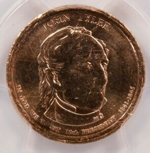 Click now to see the BUY IT NOW Price! PCGS $1 2009 P JOHN TYLER DOLLAR OBVERSE MISSING CLAD LAYER MS65