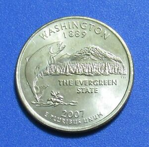 2007 P 25C WASHINGTON STATE QUARTER
