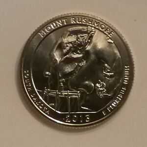 2013 S MOUNT RUSHMORE NATIONAL PARK QUARTER BRILLIANT UNCIRCULATED