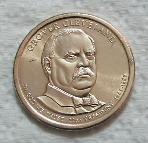 2012 D $1 GROVER CLEVELAND PRESIDENTIAL DOLLAR