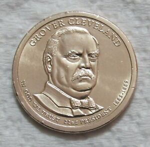 2012 P $1 GROVER CLEVELAND PRESIDENTIAL DOLLAR