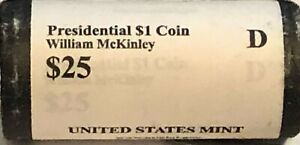 2013 D WILLIAM MCKINLEY PRESIDENTIAL DOLLAR ROLL