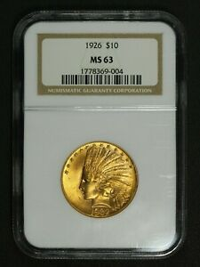 1932  NGC 1926  ERROR SLAB $10 TEN DOLLAR GOLD INDIAN EAGLE NGC MS 63