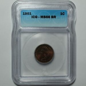 1901 INDIAN HEAD CENT PENNY ICG MS 66 BN   UNCIRCULATED