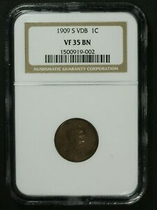 Click now to see the BUY IT NOW Price! 1909 S VDB LINCOLN WHEAT CENT COPPER PENNY NGC VF 35 BN