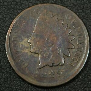 1889/9 OFFCENTER ERROR INDIAN HEAD CENT COPPER PENNY