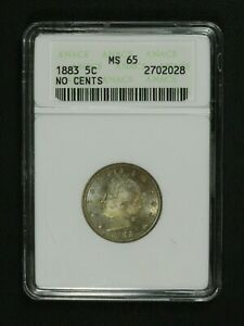 Click now to see the BUY IT NOW Price! 1883 NO CENTS LIBERTY V NICKEL OLD WHITE ANACS HOLDER MS 65