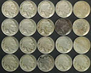 Click now to see the BUY IT NOW Price! LOT OF 20 1913 TYPE 1 BUFFALO NICKELS