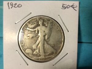 1920 WALKING LIBERTY SILVER HALF DOLLAR EXCELLENT DETAILS & EYE APPEAL