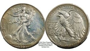 Click now to see the BUY IT NOW Price! 1938 SILVER PROOF WALKING LIBERTY HALF CERTIFIED PCGS PR67  OUTSTANDING CAC