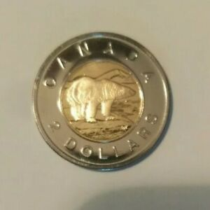 2005 CANADA TWO DOLLAR COIN   FROM RCM PROOF LIKE SET   $2.00 UNC POLAR BEAR