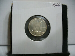 1966 CANADA SILVER DIME  10 CENTS TOP GRADE  66  PROOF LIKE  SEALED  SEE PHOTOS