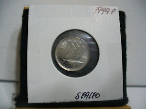 1999 P CANADA  DIME  10 CENT  COIN    TOP GRADE  99P  PROOF LIKE  SEALED