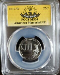 Click now to see the BUY IT NOW Price! 2019 W   PCGS MS64   AMERICAN MEMORIAL SPECIAL WEST POINT MINT LABEL
