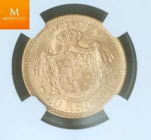 Click now to see the BUY IT NOW Price! SWEDEN 20 KRONOR 1885 EB NGC MS63