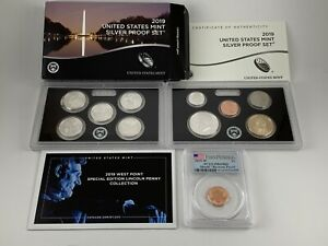 2019 S SILVER PROOF SET REV PRF 1ST STRIKE PCGS PR69RD MINT ERROR EXTRA COIN