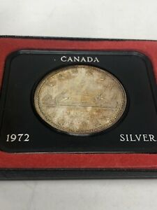 Click now to see the BUY IT NOW Price! CANADA SILVER DOLLAR 1972 ELIZABETH II CASED