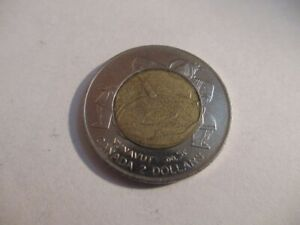 1999 CANADA  $2 DOLLAR [TOONIE] COIN  NUNAVUT COMMEMORATE  CIRCULATED