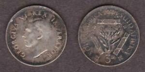 BRITISH EMPIRE SOUTH AFRICA SILVER 3 PENCE 1943 GEORGE VI       PED15