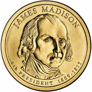2007 D PRESIDENTIAL DOLLAR BRILLIANT UNCIRCULATED COIN US   JAMES MADISON