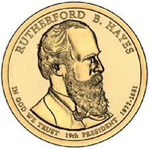 2011 D PRESIDENTIAL DOLLAR BRILLIANT UNCIRCULATED COIN US   RUTHERFORD HAYES