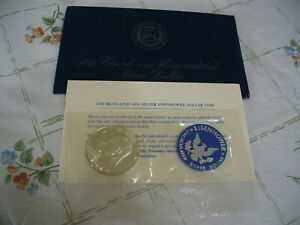 Click now to see the BUY IT NOW Price! 1973 S  USA  IKE  EISENHOWER  UN CIRCULATED  SILVER DOLLAR    1$   73S   SEALED