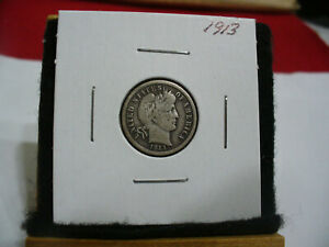 Click now to see the BUY IT NOW Price! 1913  USA  BARBER   DIME      10  CENT  PIECE   COIN  13    GOOD GRADE