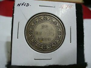 Click now to see the BUY IT NOW Price! 1874 CANADA  SILVER  HALF  DOLLAR  50 CENT PIECE   74  NEWFOUNDLAND  STERLING