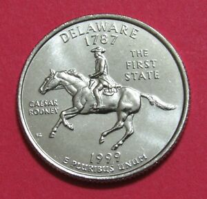 1999 D 25C DELAWARE STATE QUARTER   UNCIRCULATED