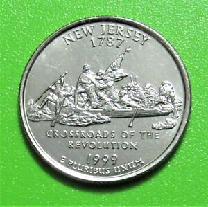 1999 D 25C NEW JERSEY STATE QUARTER