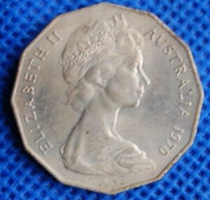 AUSTRALIA 50 FIFTY CENTS 1970 COMMEMORATIVE COIN