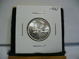 Click now to see the BUY IT NOW Price! 1961  CANADA   SILVER   QUARTER  DOLLAR  25 CENTS   NICE GRADE    61