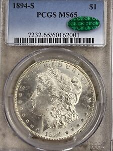 Click now to see the BUY IT NOW Price! 1894 S MORGAN SILVER DOLLAR PCGS MS65 CAC