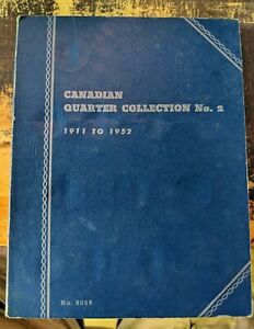 CANADIAN 25 CENT WHITMAN COIN BOOKS 1911 1952 BOOK 2