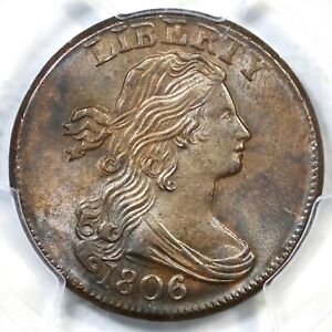 Click now to see the BUY IT NOW Price! 1806 S 270 PCGS MS 64 BN DRAPED BUST LARGE CENT COIN 1C