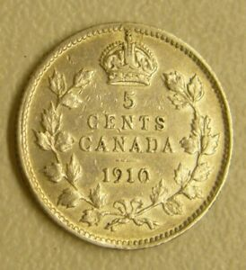 1909 CANADA. 5 CENTS.